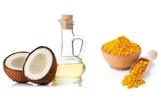 Kết hợp dầu dừa và nghệ vàng chữa vảy nến