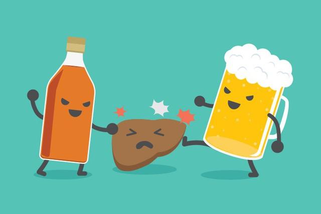 Đồ uống có cồn làm giảm các chức năng của gan